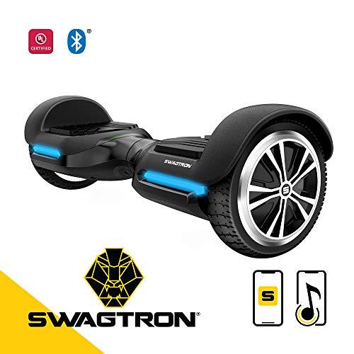 Swagtron T580 App-Enabled Hoverboard w/Speaker Smart Self-Balancing Wheel -...