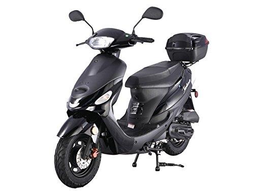 Taotao 50cc Gaz Street Legal Scooter ATM50-A1 Scooter Noir