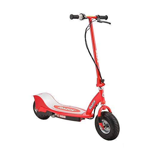 Razor E300 Rechargeable Electric 24 Volt Motorized Ride On Kids Scooter, Red