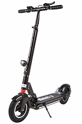 Freego 10 Inch Folding Electric Kick Scooter, 3 Block Height and Speed, Double...