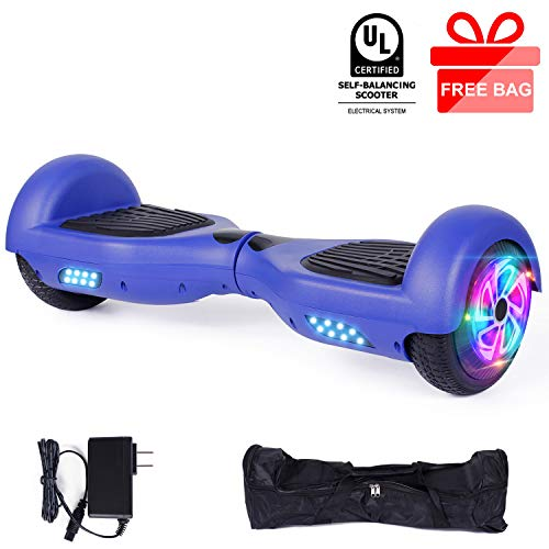 EPCTEK 6.5' Hoverboard, Self Balancing Hoverboards with LED Light Free Carry Bag...