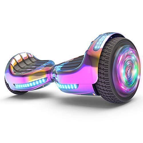 Hoverboard UL 2272 Listed Flash Wheel 6' Bluetooth Speaker with LED Light Self...