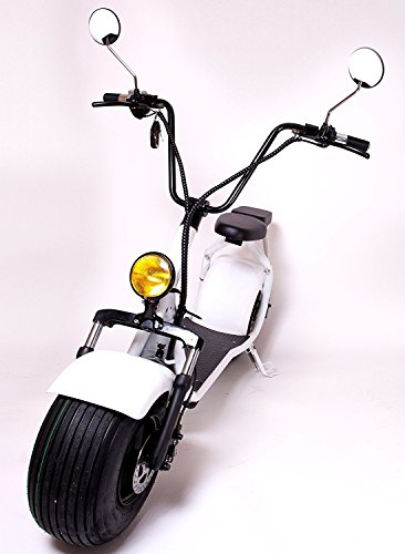 eDrift UH-ES295 2.0 32MPH Electric Fat Tire Scooter Moped with Shocks 2000w Hub...