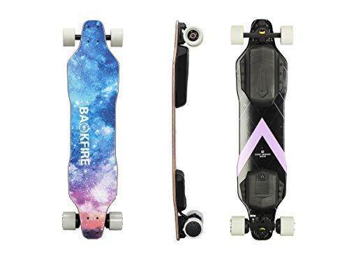 BACKFIRE G2S Electric Longboard & Hub Motor Electric Skateboard- Galaxy Grip: 23...