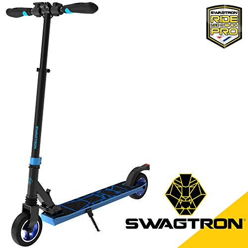 Swagtron Swagger 8 Folding Electric Scooter for Kids & Teens   Lightweight...