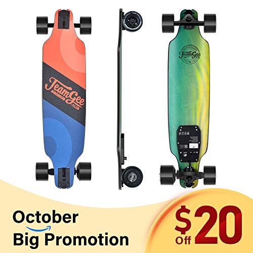 Teamgee H8 31' Electric Skateboard, 15 MPH Top Speed, 480W Motor, 8 Miles Range,...