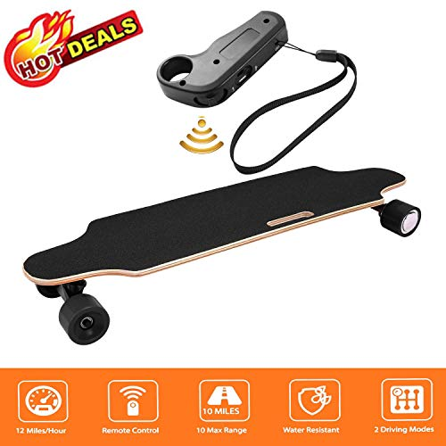 Juane 35.4' Electric Skateboard with Remote Control 20KM/H Top Speed Dual Motor...