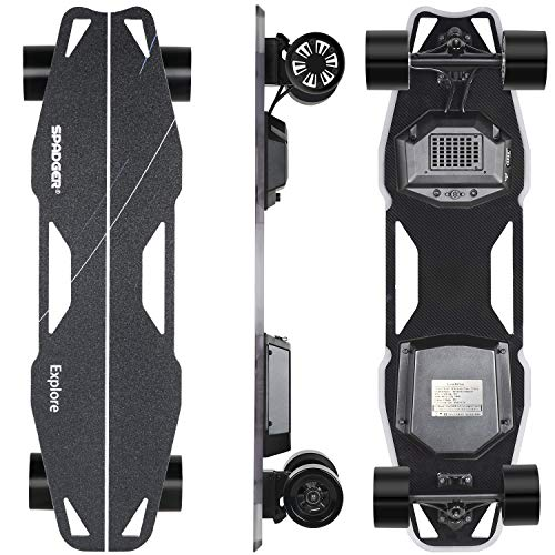 Spadger Electric Skateboard D5X Plus 35'' Boosted Longboard, 23Mph 900W Dual...