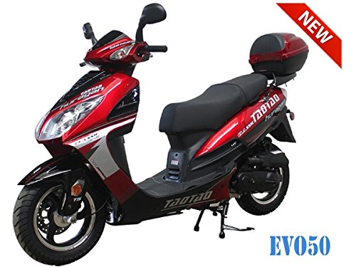 50cc Bigger Size Gas Street Legal Scooter TaoTao EVO 50 - Black (Red)