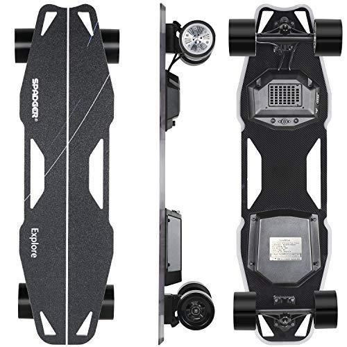 Spadger Electric Skateboard D5X Plus 35' Boosted Longboard, 23Mph 900W Dual...