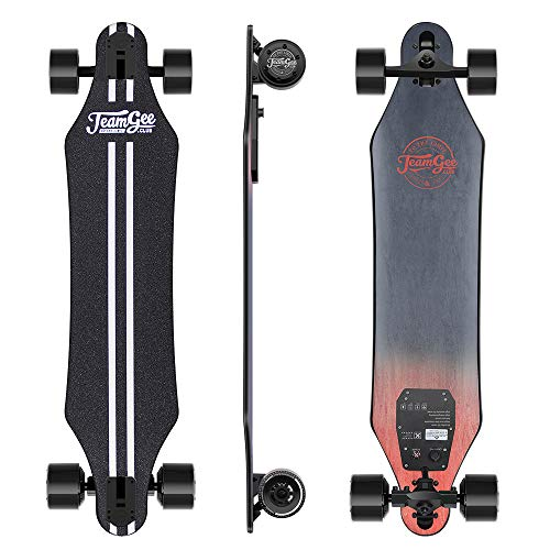 teamgee H5 37' Electric Skateboard, 22 MPH Top Speed, 760W Dual Motor, 11 Miles...