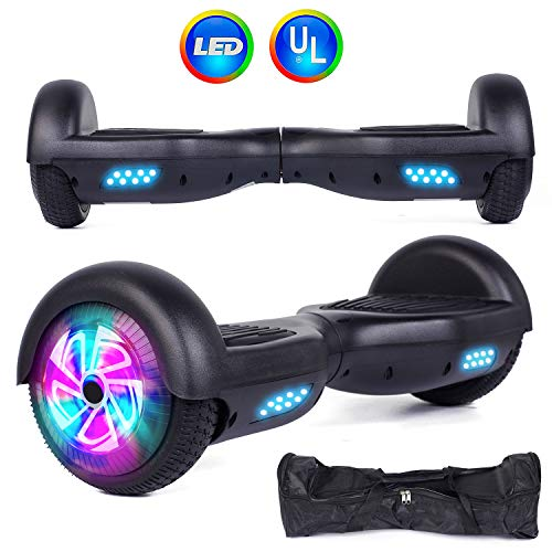 Felimoda Self Balancing Hoverboards with LED Light and Carrying Case,6.5 Inch...