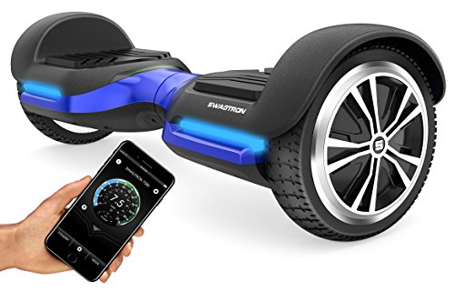 Swagtron App-Enabled T580 Bluetooth Hoverboard w/Speaker Smart Self-Balancing...