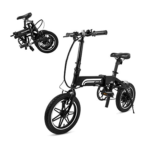 SWAGTRON Swagcycle EB5 Lightweight & Aluminum Folding Ebike with Pedals, Black,...