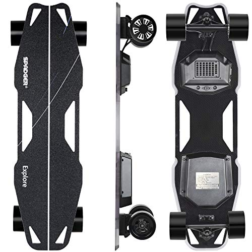 Spadger Electric Skateboard D5X Plus 35'' Electric Longboard, 23Mph 900W Dual...