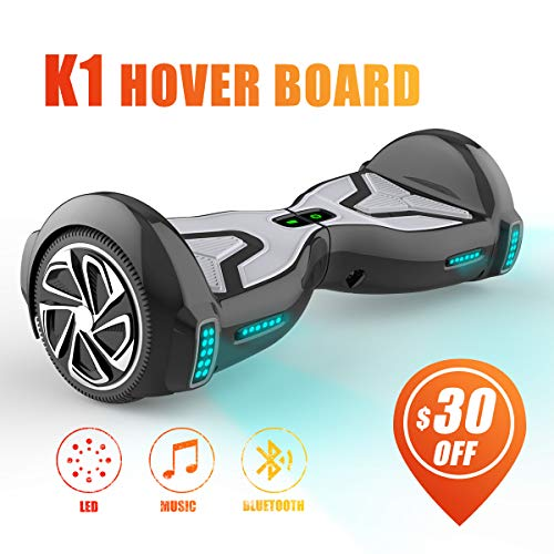 TOMOLOO Hoverboard for Kids and Adult, 6.5' Two Wheels App Controlled Electric...